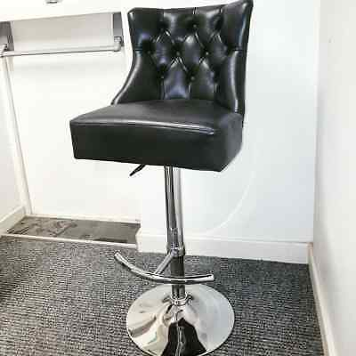 100% Real Leather , Solid Metal Frame  High Bar Stool