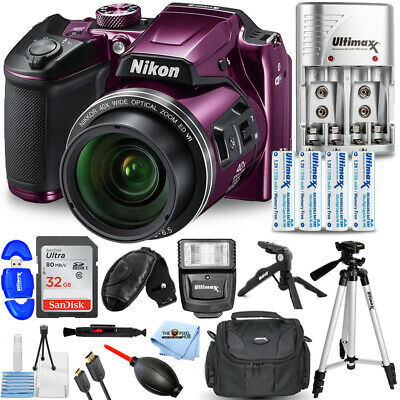 Nikon COOLPIX B500 Digital Camera (Purple) PRO BUNDLE