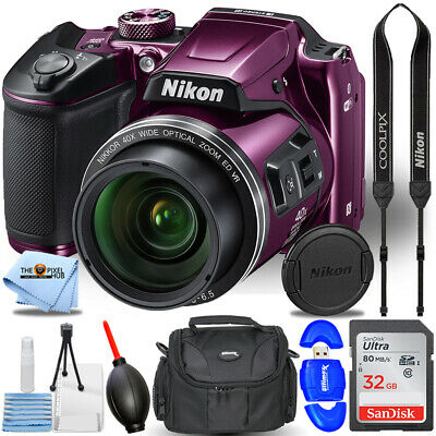 Nikon COOLPIX B500 Digital Camera (Purple) STARTER BUNDLE
