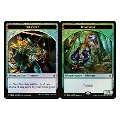 NM MTG 4X Kaladesh Foil Promo Thopter //// Servo Doublesided League Tokens