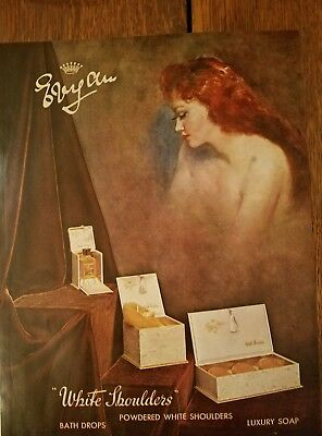19 Evyan white shoulders perfume redhead luxury soap bath drops ad