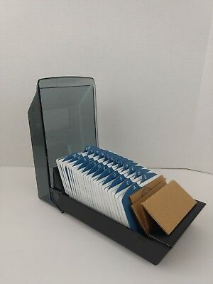 New Rolodex 67011 Covered Business Card Files 500 2 1/4x4 Cards 24 A Z Guides...