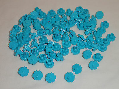 NEW LEGO Medium Azure Blue Plant Flower 2x2 Rounded Lot of 25 Pieces 98262