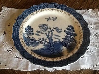 Vintage Booths Real Old Willow Decorative Plate