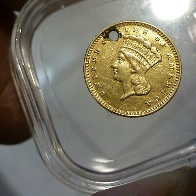 1874 $1 Us Indian Princess Head Dollar Gold Coin