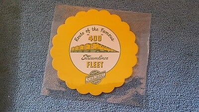 Vintage Chicago & North Western Railroad Drink Coaster Route Of The Famous 400