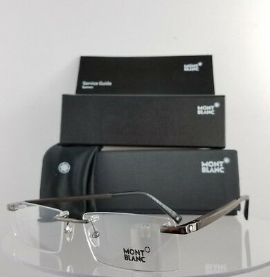 New Authentic MONT Blanc MB 390 008 Eyeglasses Brown Wood MB390 Frame