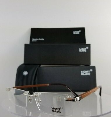 New Authentic MONT Blanc MB 390 016 Eyeglasses Brown Wood MB390 Frame