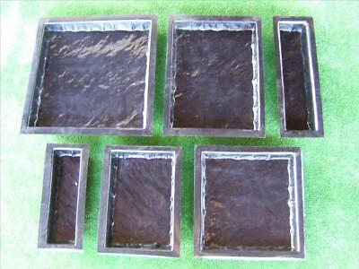 6 Textured Paver Moulds  Molds Sandstone Flag  Make your own Pavers And Save $$$