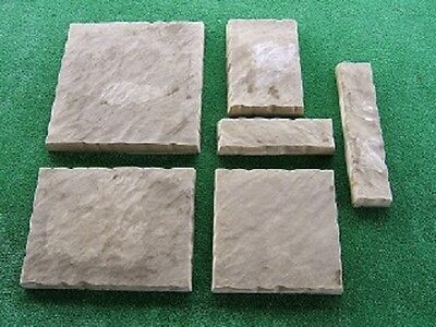 6 Textured Paver Moulds -  Make yourown  Pavers And Save $$$ MONEY MAKING MOULDS