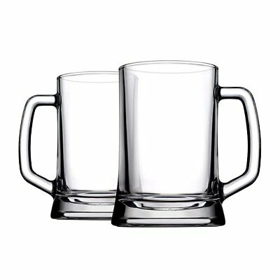 NEW Pasabahce Pub Beer Stein 500ml Set of 2