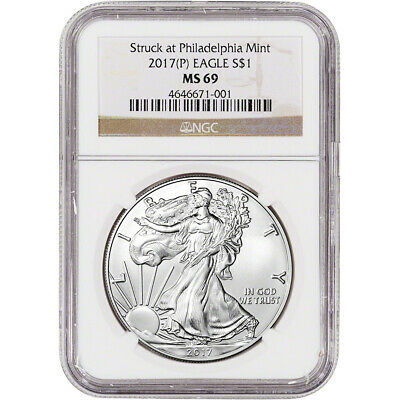 2017-(P) American Silver Eagle - NGC MS69