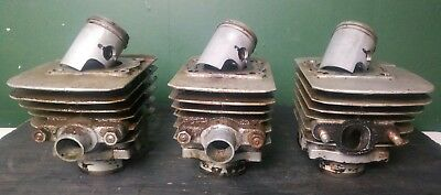 1973 + Kawasaki Triple S1 250 Cylinders w/ Pistons 0.50 over (KH250 related)