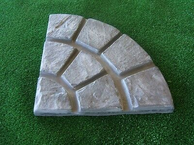 Garden Cobble Stone Paver Mould  for Patio Paving Qtr Circle Rotunda