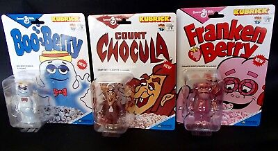 RARE! General Mills KUBRICK toy figure set Frankenberry Count Chocula Boo Berry