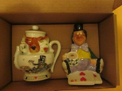 Alice In Wonderland Paul Cardew Design Salt  Pepper Shaker Mad Hatter & Dormouse