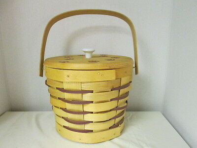 PETERBORO Handcrafted Pet Dog Bone Basket and lid made w/ Durable Construction
