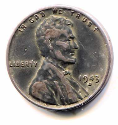 Wartime 1943 D Lincoln Steel Wheat Penny - American One Cent Coin Denver Mint