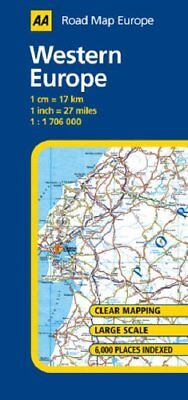 Western Europe (AA Road Map Europe Series) by AA Publishing Sheet map, folded