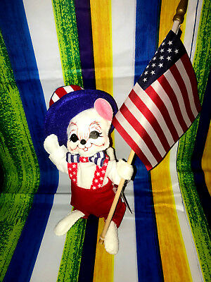 """Annalee Patriotic 4th Of July Boy Mouse 6"""" New 2018 250218 Tooth"""