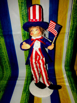 """Annalee Patriotic 4th Of July Uncle Sam Kid 10"""" New 2018 250118 Closed Mouth"""