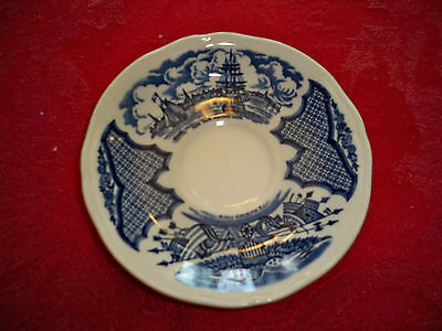 """Fair Winds by Alfred Meakin Staffordshire England Blue 5 1/2"""" Saucer"""
