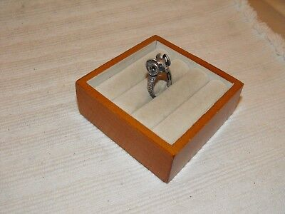 Antique Vintage Cast Sterling Silver Ring Aries Ram Big Horn Sheep Head Size 8
