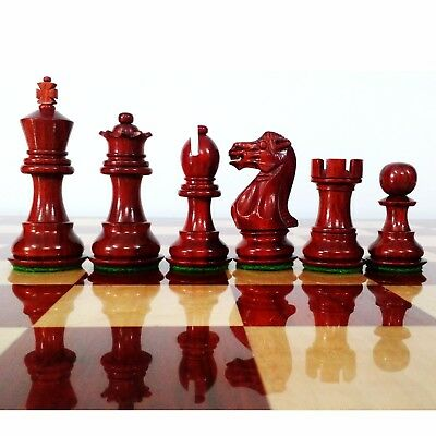 """3.1"""" Luxury Bud Rosewood Staunton Series Weighted Chess Pieces Set Extra queens"""