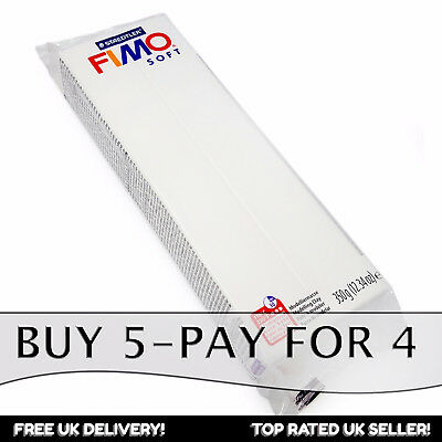 FIMO Soft 350g White Polymer Modelling Clay - Oven Bake clay - Buy 5, Pay for 4