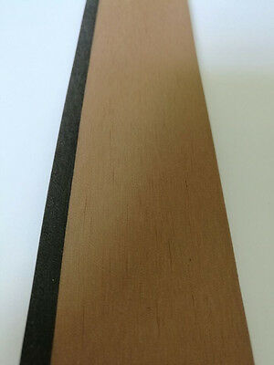 25 Meter Roll Synthetic Teak Decking With Black Caulking Line Stripe 50mm Wide