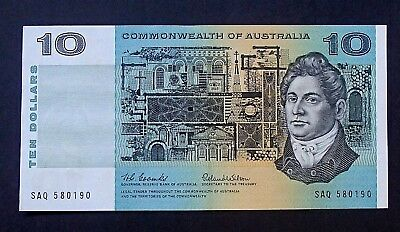 1966 Australia Bank Notes $10 Ten Dollar aUNC - UNC Coombs Wilson Prefix SAQ 90