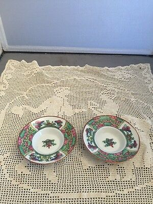 Antique Japanese Imari Small Dipping Bowl Set Of 2 Marked