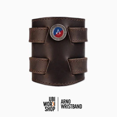 NEW Assassins Creed Unity - Arno Leather Wristband with Pouch - Bracelet Origins