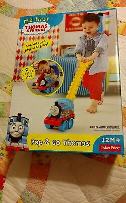 Thomas Train Corn Popper Toy Fisher Price Pop & Go Push Play Bouncing 2 Way Play