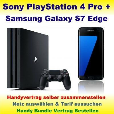 Vertrag mit Handy Samsung Galaxy S7 Edge + PlayStation 4 Pro Handy Bundle PS4