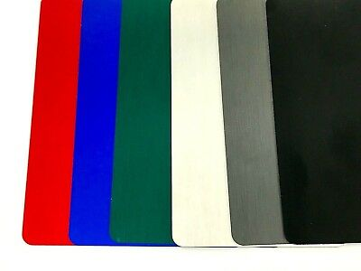 100 Anodized Aluminum Business Card Blanks - Laser Engravable Round Corners, USA