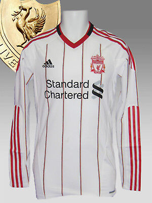 New adidas LIVERPOOL Football Club 2010 2011 Player Issue A Shirt TechFit LS  L