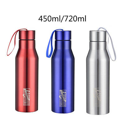 Stainless Steel Vacuum Flask Travel Mug Insulated Outdoor Sports Water Bottle