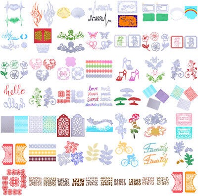48 Type Metal Craft Cutting Dies Embossing Scrapbooking Stamp Stencil Paper Card