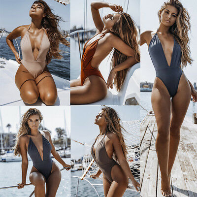 2018 Women's One Piece Beach Swimsuit Swimwear Bathing Monokini Push Up  Bikini