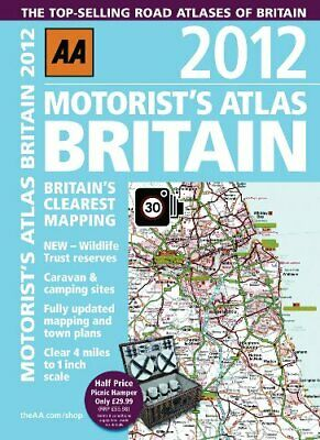 Motorist Atlas Britain 2012 (Road Atlas) by AA Publishing Spiral bound Book The