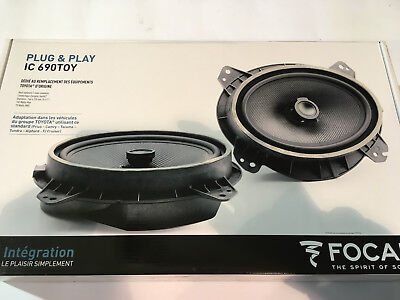 FOCAL IC 690TOY 2-Way COAXIAL SPEAKERS KIT 6x9 in  DEDICATED TOYOTA PLUG &  PLAY