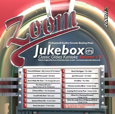 Zoom Karaoke Jukebox Classic Oldies Series CD+G - Volume 13