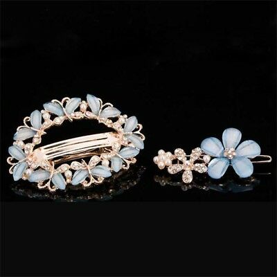Women's Butterfly For Girls Fashion Hair Ornaments Hairpin Barrette Crystal