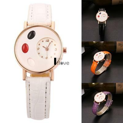 Lovely Men's Women's Watches Leather Stainless Steel Quartz Analog Wrist Watch
