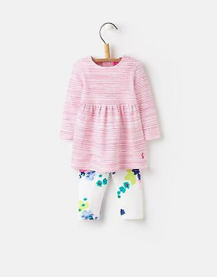 Joules 124740 Christina Baby Girls Dress and Legging Set in Ocean Bloom