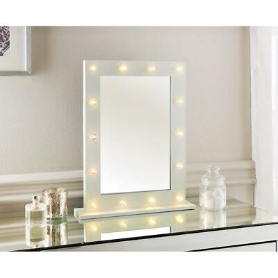 Vanity Mirror Hollywood 14 Led White Black Frame Dressing Table Makeup