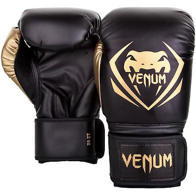 Venum Boxing Gloves Contender Gold Sparring Muay Thai Kickboxing 10 12 14 16oz