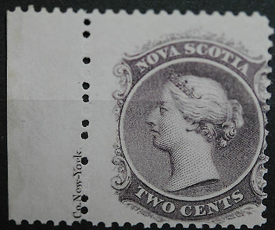 Canada Stamps NS SC#9 VF+ H/OG QV Two Cents Lilac