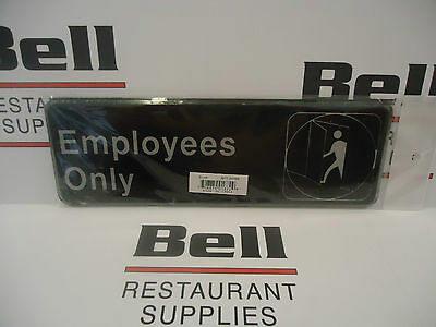 "*NEW* 3"" x  9"" Sign - EMPLOYEES ONLY - Free Shipping!"
